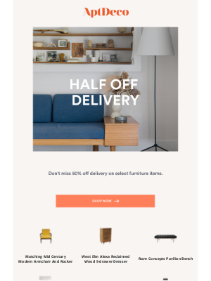 AptDeco - Shop new arrivals with 50% off delivery
