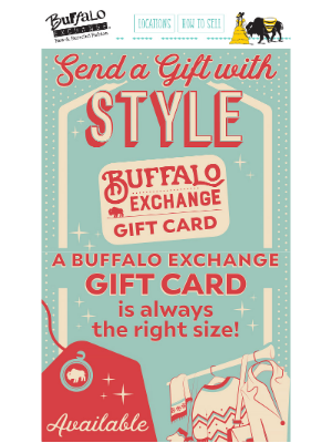 Buffalo Exchange - The Perfect Last-Minute Gift! 🎁