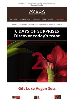 Aveda (UK) - It's getting better and better.. Unlock DAY 2 surprise NOW!