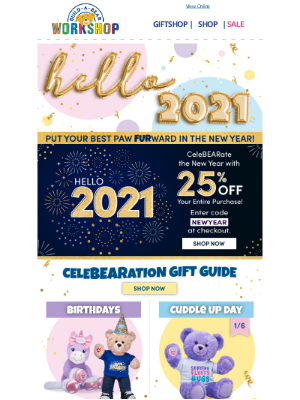 Build-A-Bear Workshop - Hello, 2021! Let's Make It the Best Year Yet!