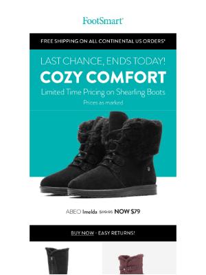 FootSmart - Last Chance! Shearling Boots Savings