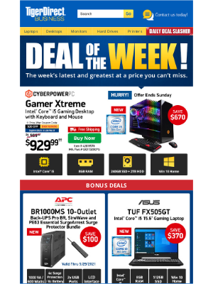 TigerDirect - What a Steal! $929 9th Gen i5 Gaming PC w/ GTX 1650