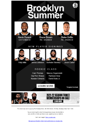 Brooklyn Nets - Check Out Brooklyn's Summer Acquisitions