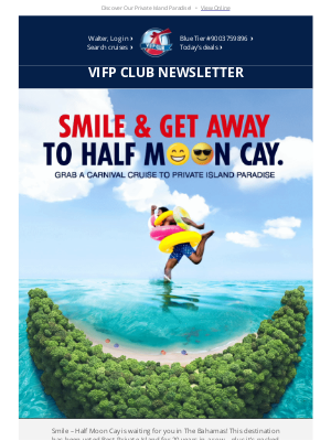 Carnival Cruise Line - Walter, Your January VIFP News Has Arrived! 😊😎