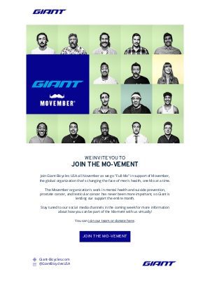 Giant Bicycles - Join the Mo-Vement! 😎