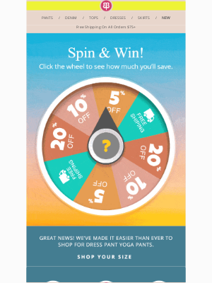 Betabrand - Spin The Wheel And Save - Today Only!