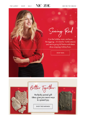 NIC+ZOE - Red-y for the holidays