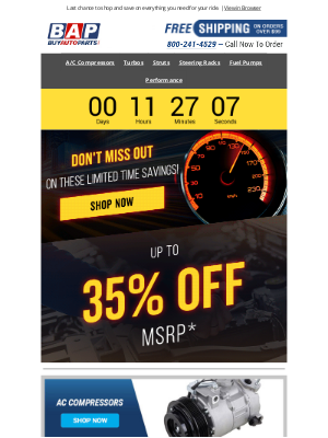 Buy Auto Parts - ⚠️ Up To 35% OFF Ends Tonight!