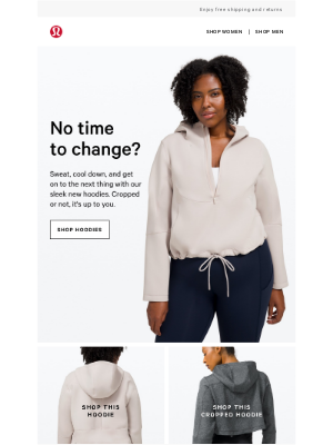 Lululemon - This hoodie comes in a cropped option, too