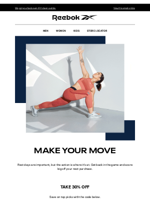 Reebok - Make Your Comeback With 30% Off
