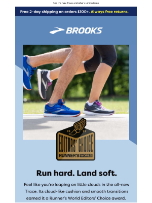 Brooks Running - Run on cushiony bliss