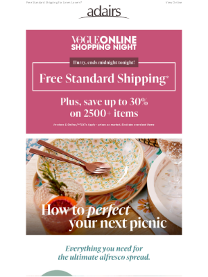 Adairs (AU) - FINAL DAY TO SHOP! Free Standard Shipping*
