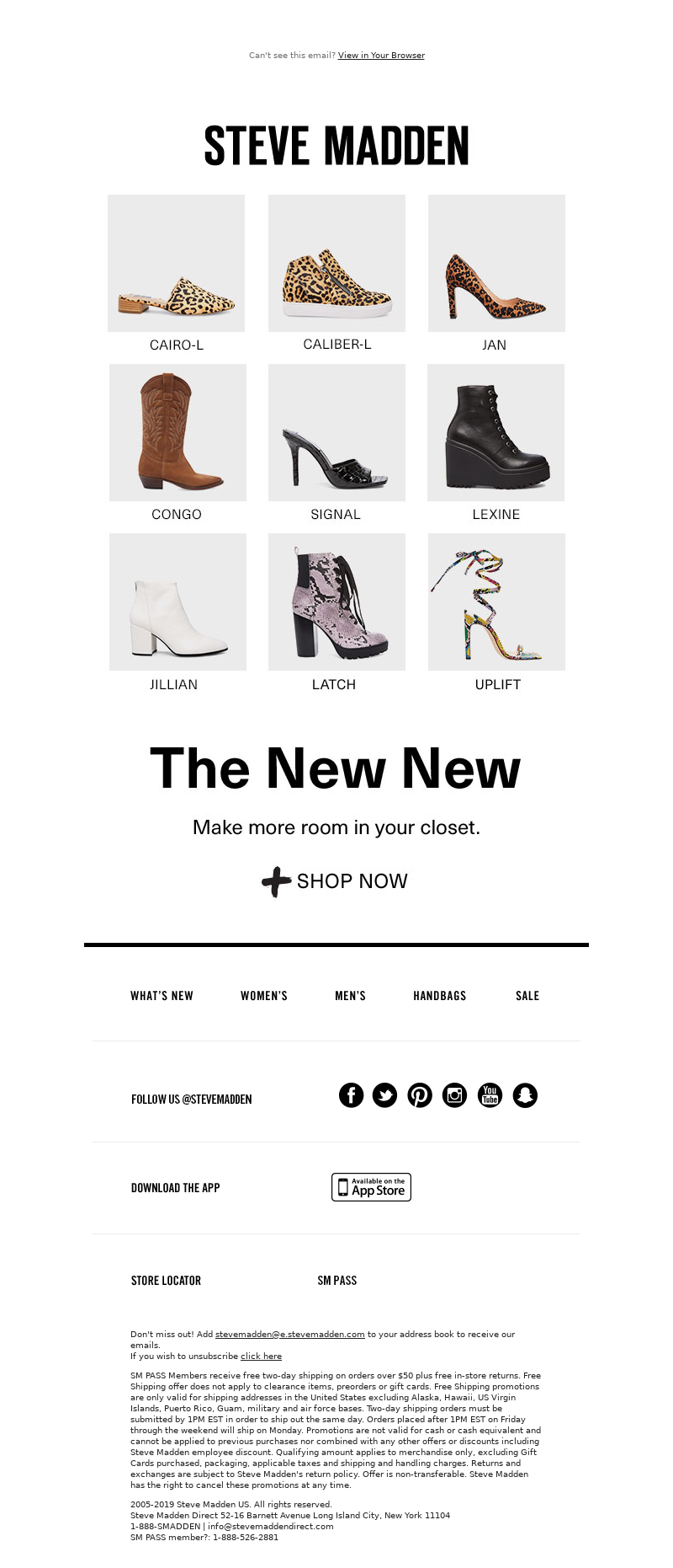 Email example and strategy from Steve Madden