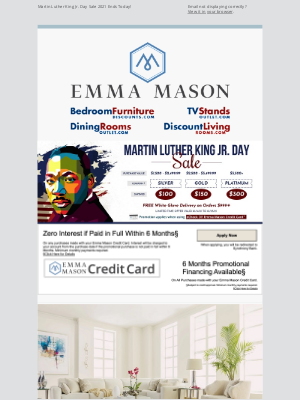 Bedroom Furniture Discounts - Martin Luther King Jr. Day Sale 2021 Ends Today! 🗽