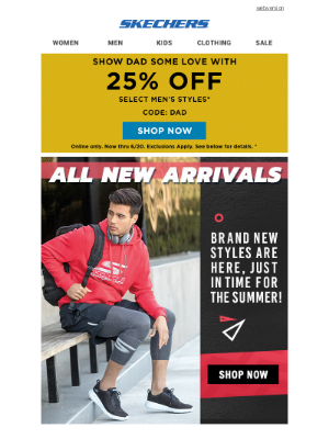 SKECHERS - New arrivals just in time for Father's Day