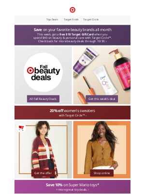 Target - Fall Beauty Deals are here—save on your faves.