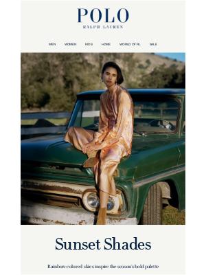 Ralph Lauren - Fall Styles in Sunset Shades