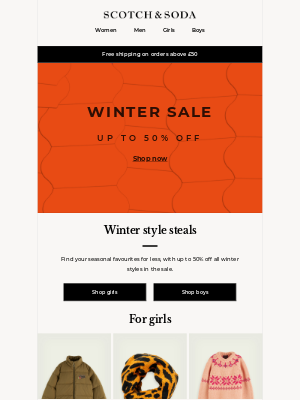 Scotch & Soda - Up to 50% off all winter styles