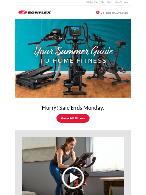 Bowflex - Bowflex Summer Sale Ends 6/22!