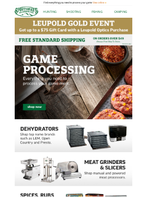Sportsman's Warehouse - Shop Grinders, Dehydrators and Vacuum Sealers