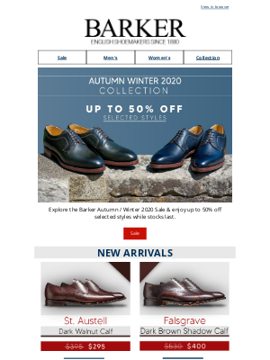 Barker Shoes (UK) - New Sale Styles Added | Up To 50% Off Selected Styles While Stocks Last