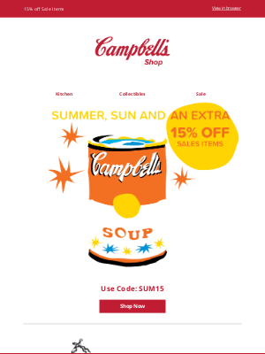 Campbell's Soup - Summertime Clearance Sale!