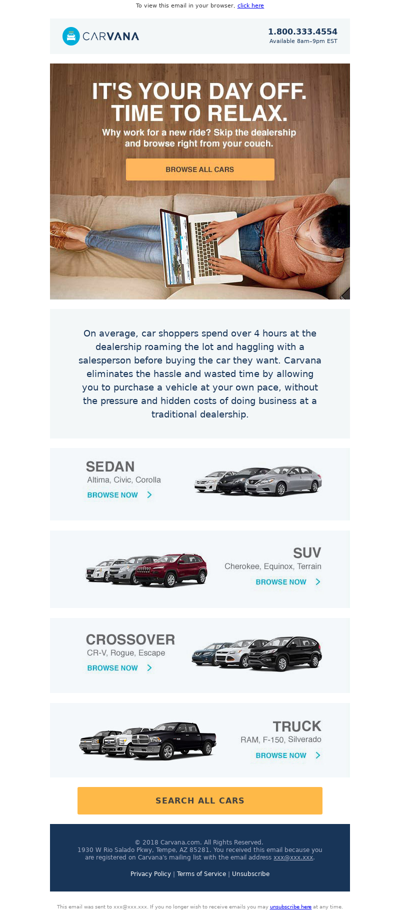 Carvana Labor Day Email