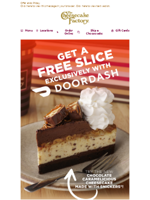 The Cheesecake Factory - Get a Free 🍰 for Lunch!