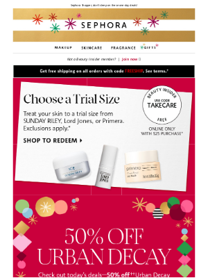 Sephora - Black Friday + up to 50% off = 😲😍🏃🏽♀️