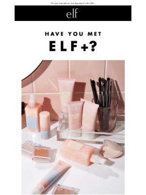 Introducing elf+, beauty + skincare
