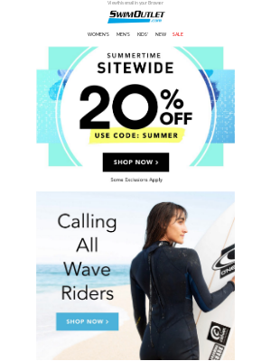 Ride the Sale 🏄 20% Off SITEWIDE