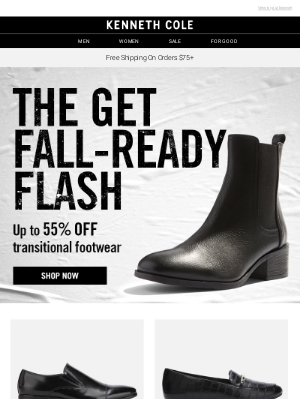 Kenneth Cole - Last chance: up to 55% off footwear