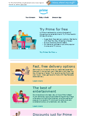 Amazon Prime - Get 30 days of Prime free