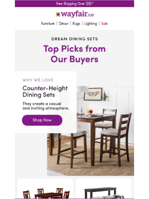 DINING SETS recommended by our buyers