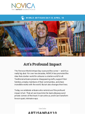NOVICA - World Artisan Day – Why does it matter?