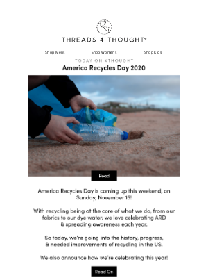 Threads For Thought - America Recycles Day 2020 ♻️