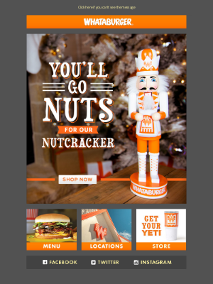 Whataburger - Get crackin' on your holiday shopping with our Whataburger 2020 edition nutcracker