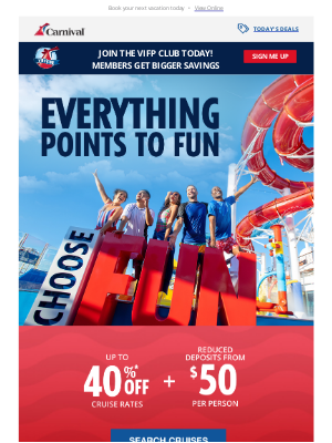 Carnival Cruise Line - Ready, set, time to cruise ⏰🛳️