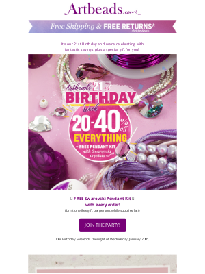 Artbeads - A Gift for You on Our 21st Birthday!