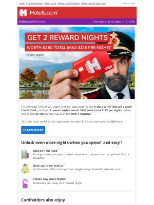 Hotels - Want to get 2 reward nights?