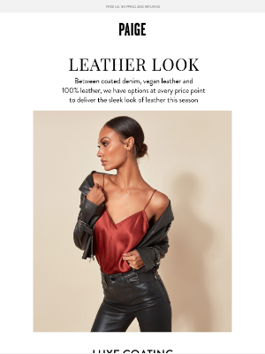 PAIGE - Get the Look of Leather at Every Price Point