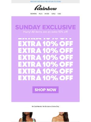 Rainbow Shops - 👀 Spotted! 🔍 A HUGE Sale! 😱💰 #SundayFunday
