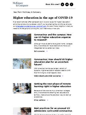 Higher education in the age of COVID-19