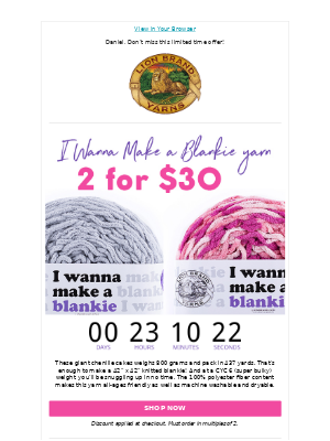 Save On I Wanna Make A Blankie Yarn!