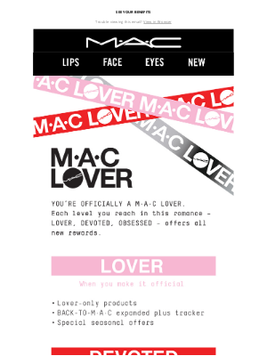MAC Cosmetics - You're Officially a M·A·C Lover!