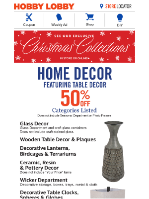 Hobby Lobby - 40% Off Coupon