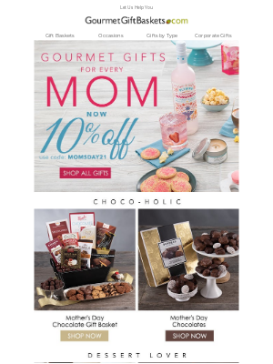 GourmetGiftBaskets - Trouble Finding Mom A Gift?