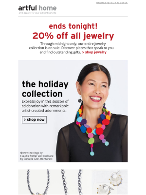 Artful Home - Last Day! Save 20% on All Jewelry
