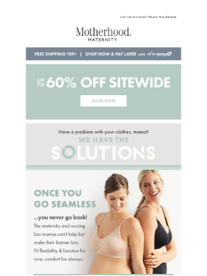 Destination Maternity - Wear this bra FOREVER (now $20!)