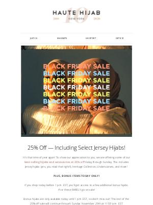 Haute Hijab - HH Black Friday Extravaganza is ON! 🎉